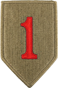 1st Infantry Division OCP Unit Patch-Big Red 1