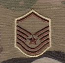 Air Force OCP E7 MSgt Rank Insignia Sew-On (Pair)
