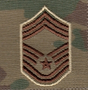 Air Force OCP E9 CMSgt Rank Insignia Sew-On (Pair)