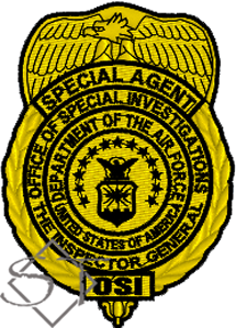 US Air Force OSI Special Agent Badge Patch