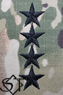 Army Rank Insignia-O10 GEN General Velcro