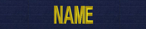 USPHS Name Tape-USCG ODU blue ripstop gold letters