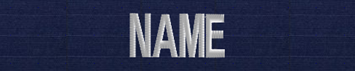 USCG Name Tape-USCG ODU blue ripstop white letters