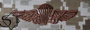 NWUII AOR1 Navy Parachutist Embroidered Badge-Desert