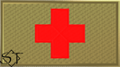 Brassard-Patch Red Cross Medic OCP