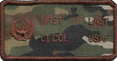 ABS-G USAF Name Tag with Commanders Insignia MultiCam OCP