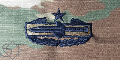 Combat Action Badge 2nd Award-OCP USSF Blue